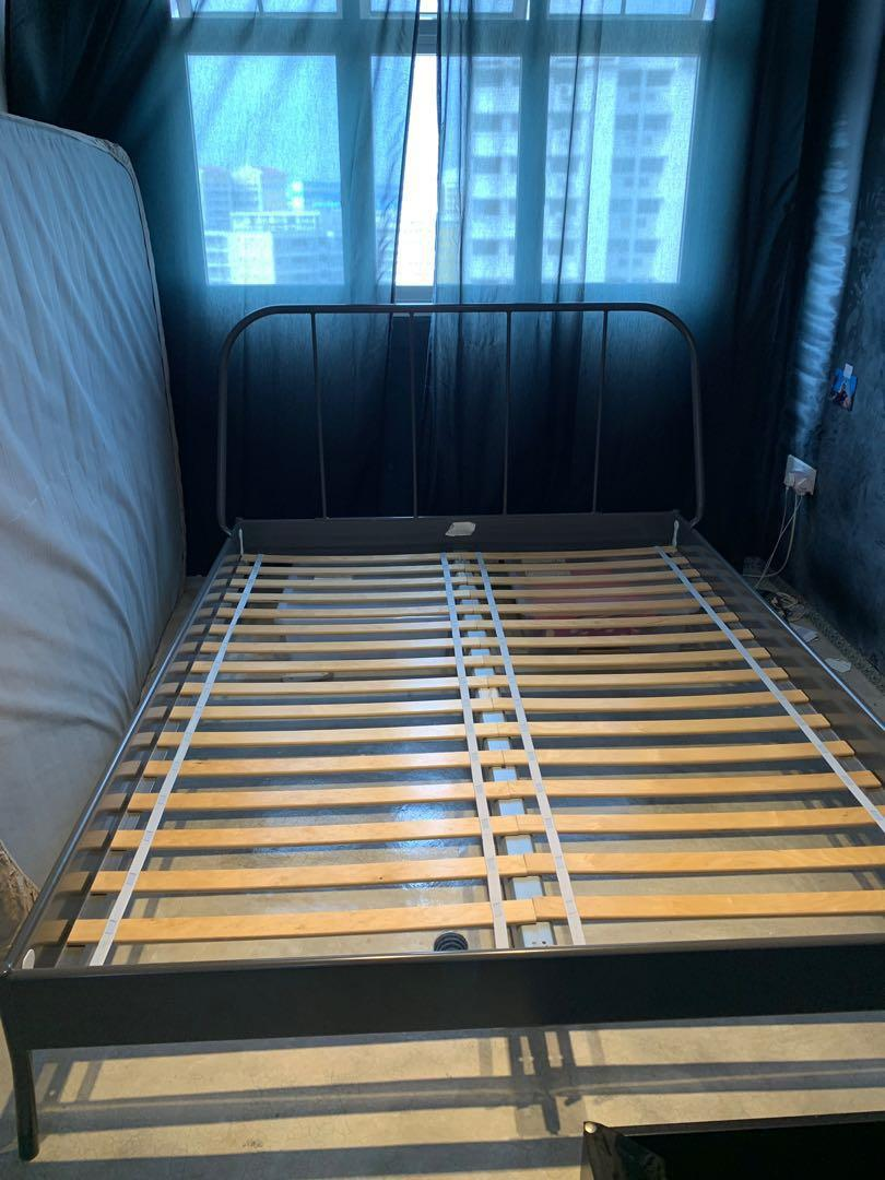 Kopardal Ikead Queen Size Bed Frame Furniture Beds Mattresses On Carousell