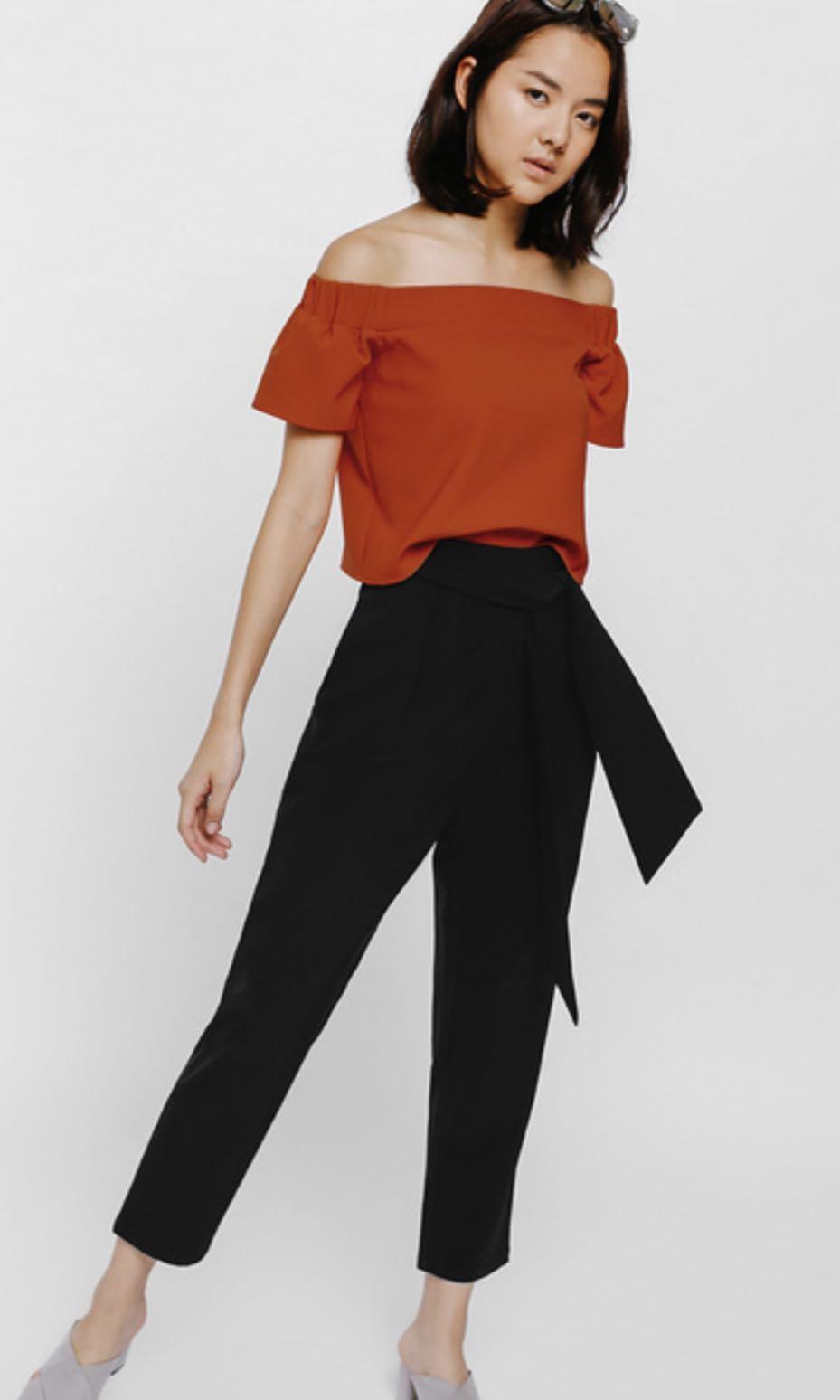 57200ae86da9d9 Love Bonito Pamaiza Sash Peg Trousers, Women's Fashion, Clothes ...
