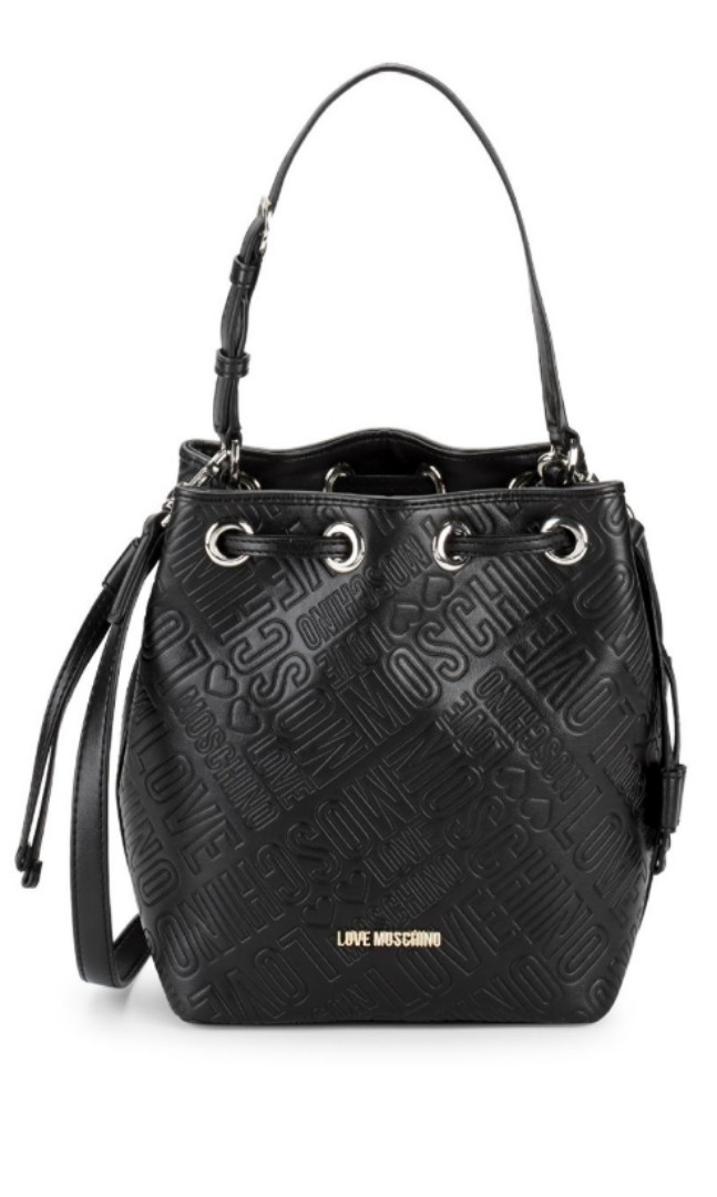 6a0086bbf8c LOVE Moschino Embosssed Logo Bucket Bag, Luxury, Bags & Wallets ...
