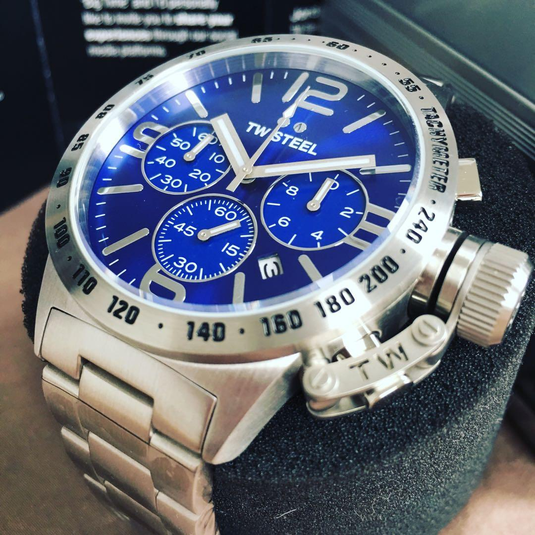 NEGOTIABLE ~Brand New TW Steel 45mm Sunray Blue Canteen CB13 Watch RRP 549.00