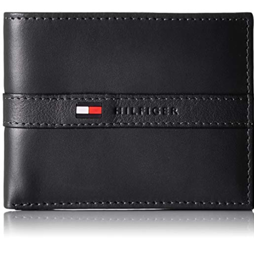 d4d2816a New Tommy Hilfiger Men's Ranger Leather Passcase Wallet with ...