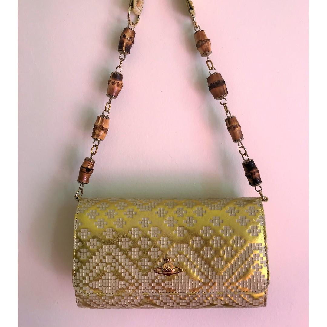 a1549b8ff5 New Vivienne Westwood clutch with shoulder strap, Women's Fashion ...