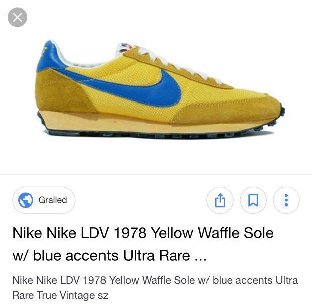 786a03cc5d97 Nike vintage vtg LDV waffle sole yellow blue