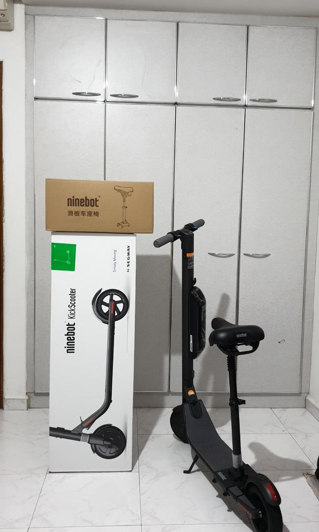 Segway Ninebot ES4 with exteral battery & seat, Bicycles