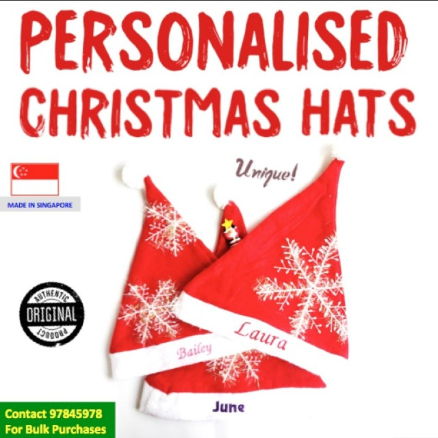 3b561605 Personalised Christmas Hat (BULK ORDER AVAIL) Special Christmas Gift ...