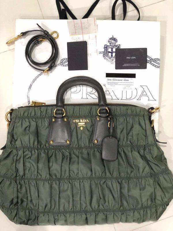 48e4b5438db9e PRADA tessuto gaufre BN1935 handbag!Christmas personal gift