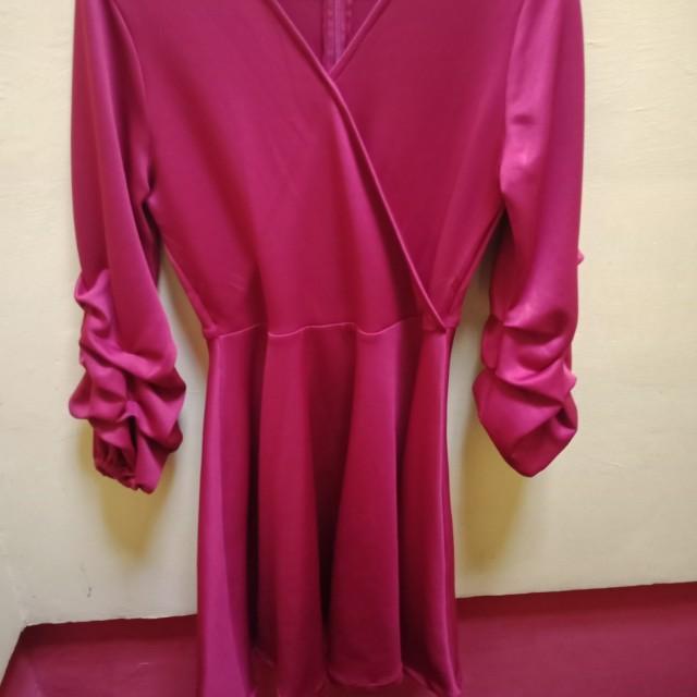 [NEGO] Preloved dress merah