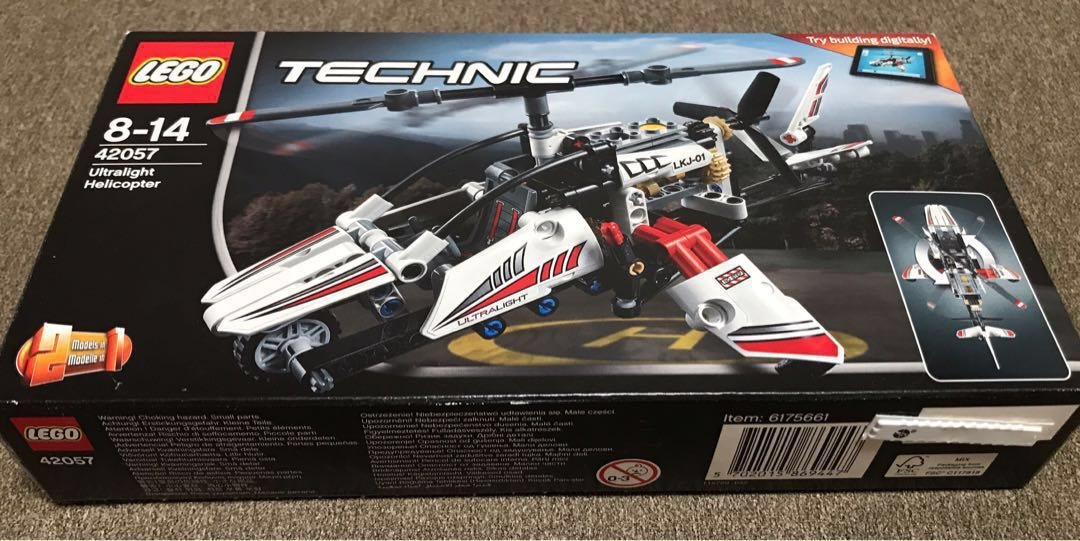 Rare Pre Owned Retired Technic Legoultralight Helicopter 42057