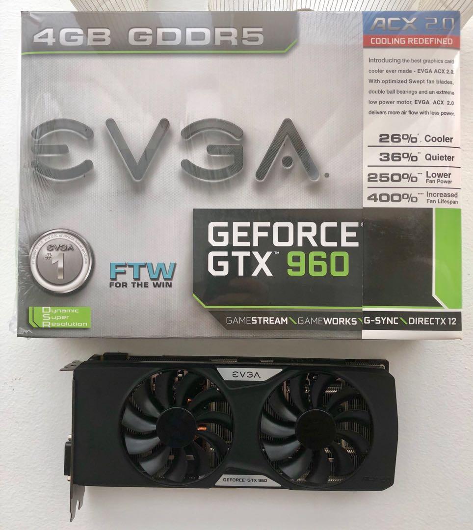 REDUCE PRICE: EVGA FTW Nvidia GeForce GTX 960 4GB factory