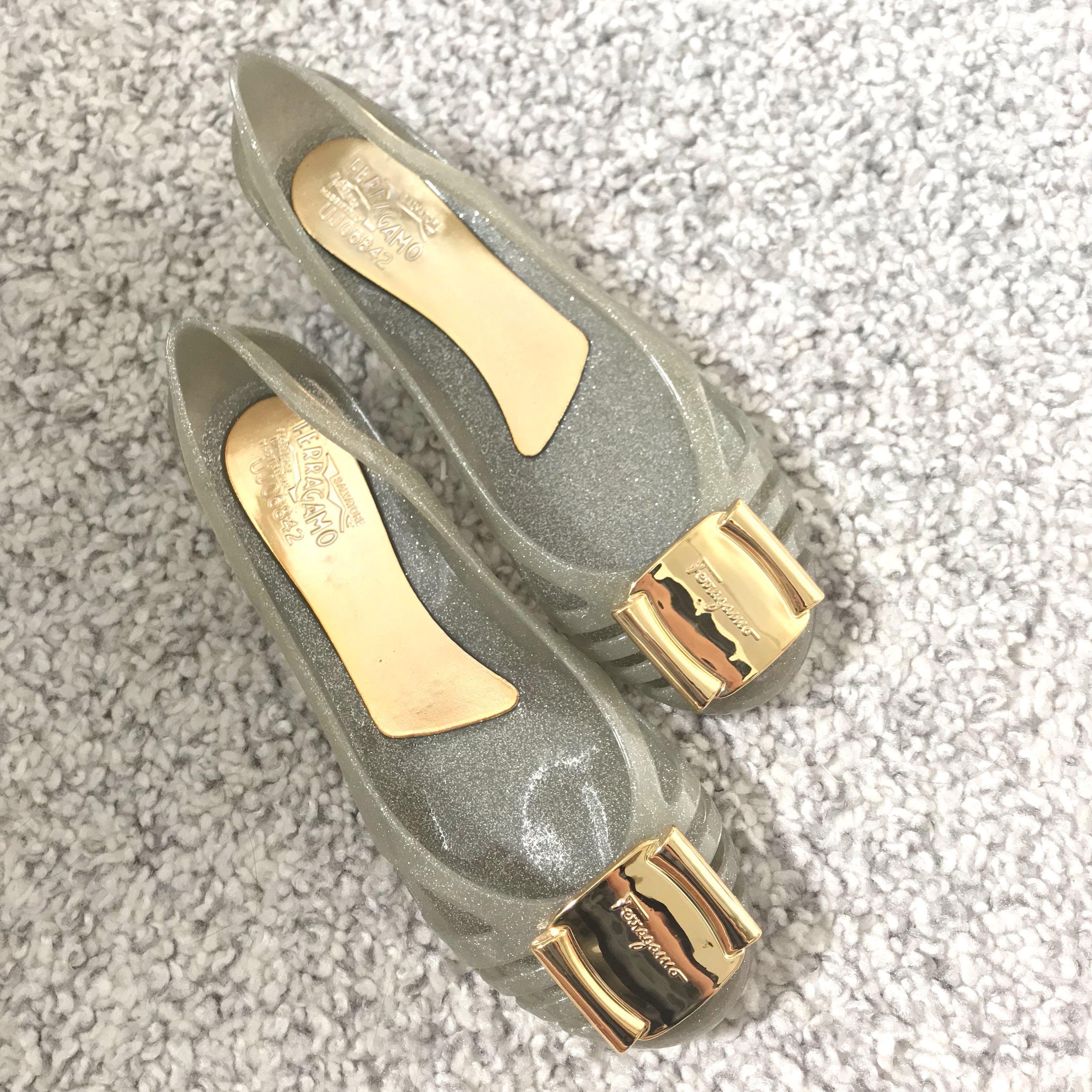 8ea6bf635d2 Salvatore Ferragamo Bermuda Jelly Shoes Flats Wedges