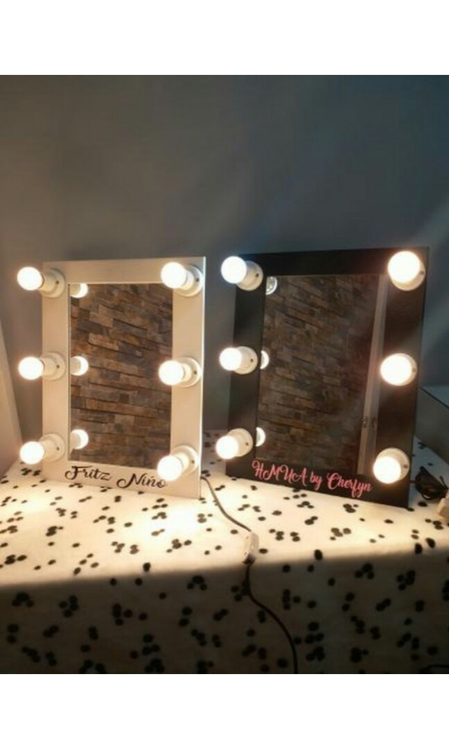 Small Hollywood Vanity Mirror Home Furniture Furniture Fixtures Others On Carousell