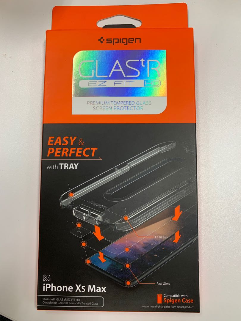 newest a73e5 9005e Spigen Tempered glass screen protector (iPhone XS Max)