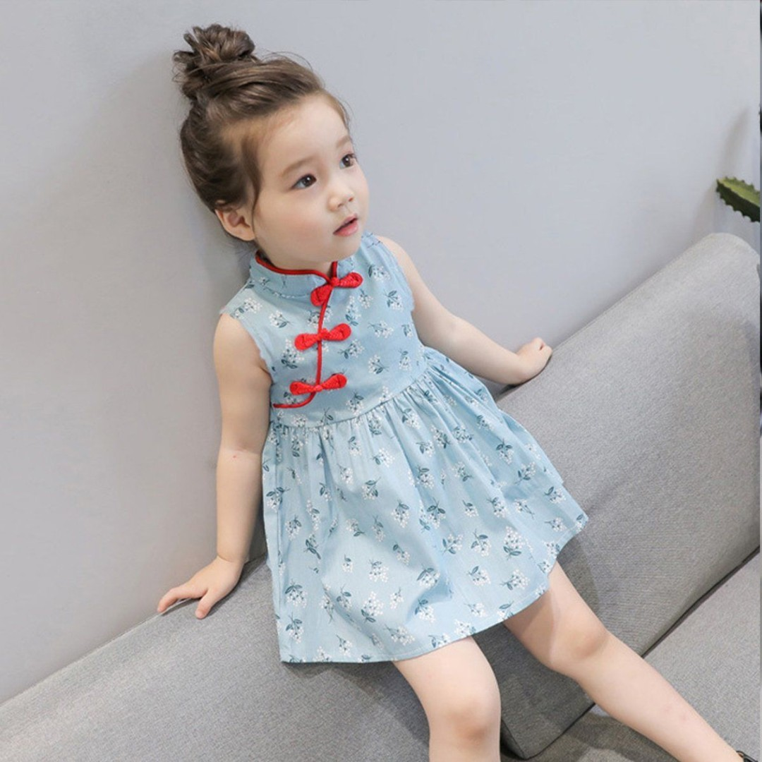 f001160d7874a Toddler Baby Girls Summer Chinese Cheongsam Dress Party Birthday Dress  Clothes new year