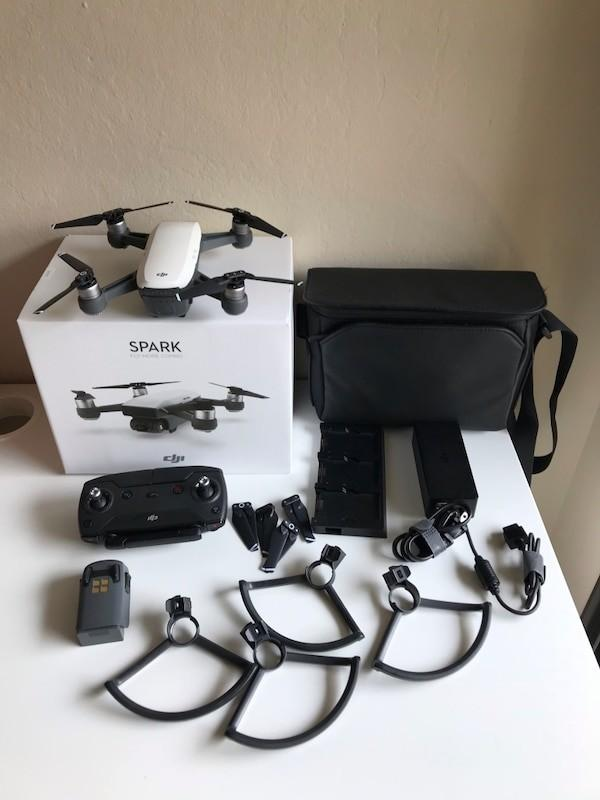 Used DJI Spark Fly More Combo with 2 Extra Batteries