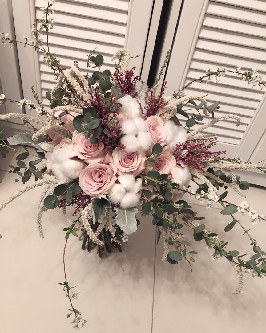 Wedding 結婚婚禮手扎花球手捧花 bridal bouquet 💐