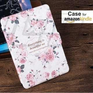 White Pink Rose Kindle Paperwhite 4 3 2 1 Case Cover Sleeve