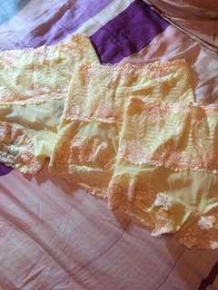 🚚 高腰美體褲 黃色