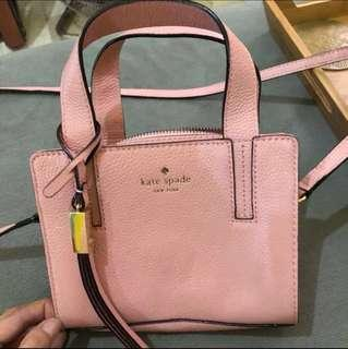 Kate Spade Grey Street Exotic Mini Dominique in Dust Pink Crossbody