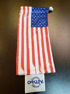 OAKLEY USA Flag pattern cleaning pouch bag
