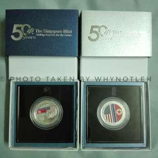 Limited Edition: USA-DPRK 999 Fine Silver Proof Medallion