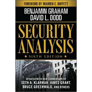 Brand New - Security Analysis: Sixth Edition, Foreword by Warren Buffett (Security Analysis Prior Editions) - Hardback