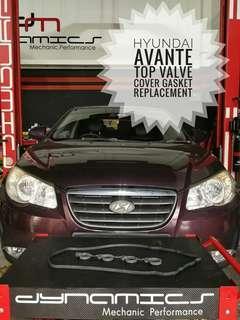 Hyundai Avante:- Engine Valve_Cover_Gaskets replacement.