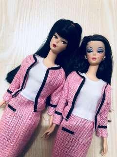Barbie 香奈兒 chanel 風 外套 內裙 連衣裙 set Mattel