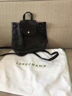 Authentic Preloved longchamp le cuir backpack