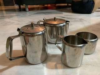 Stainless Steel Milk Pitcher Coffee Tea Sugar Set #XMAS50