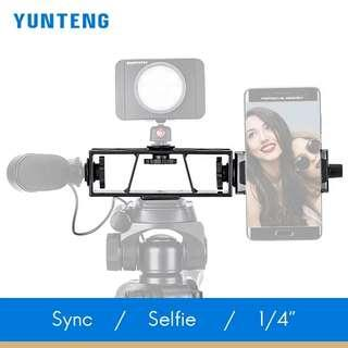Yunteng Live Telecast Holder Multi clip Synchronous Video Broadcast Mobile Phone Holder 1/4 Standard Threaded Interface
