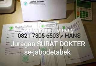 Jajan_surat_dokter klinik se-jabodetabek