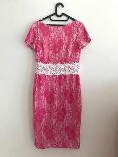pink formal dress for rent/sell