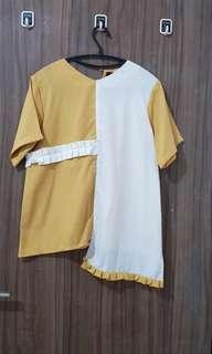 Baju kuning asimetris shopataleen