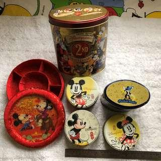 Empty Hong Kong Disneyland 2nd Anniversary Containers (Used)