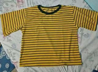 Mustard Stripes Top