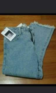BNWT light blue frayed jeans