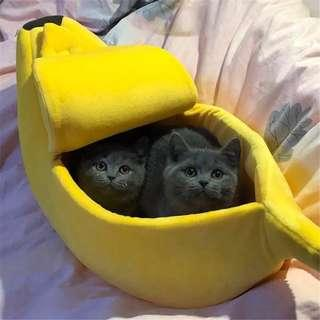 Banana cat and dog bed