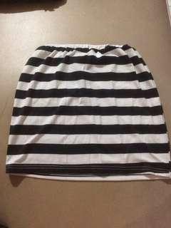 Stripe skirt span rok karet all size bodycon