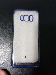 Samsung S8 clear blue case