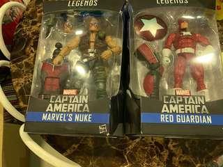 Hasbro marvel legends captain America marvels nuke and red Guardian baf giant man