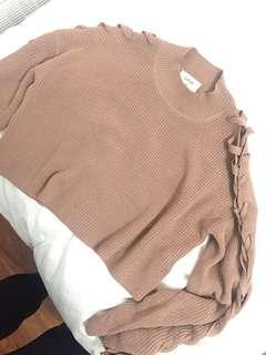Aritzia wilfred salome tied sweater