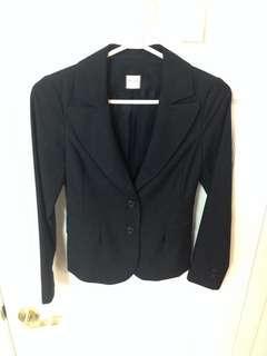 Aritzia Tatula Babaton Black pinstripe blazer