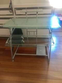 Glass study table (3 levels)