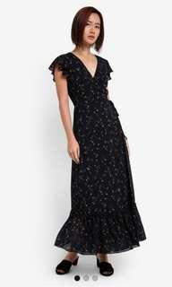 BNWOT Zalora Maxi Wrap dress