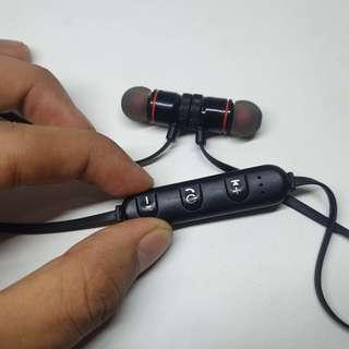 Headset Bluetooth Wireless Earbuds Mic Termurah Magnetic