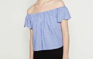 Zara - Off the shoulder poplin top