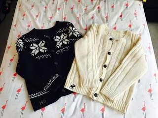 Abercrombie and Gilly Hicks knit sweaters