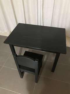 IKEA Sundvik Children / Kids Table & Chair (Dark Brown)