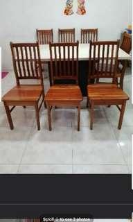 Good condition dining quality solid wood wooden chair x 6