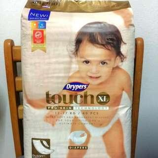 Drypers Touch XL 46pcs Diapers